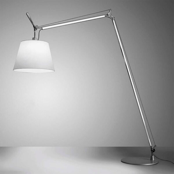 Lámpara de pie Tolomeo Maxi cromo y blanco Artemide-343