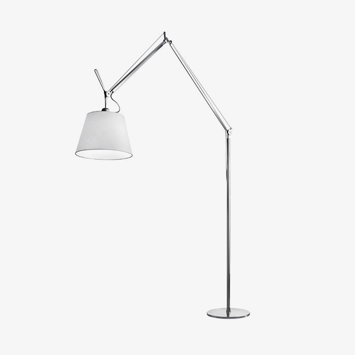Lámpara de pie Tolomeo Maxi cromo y blanco Artemide-0
