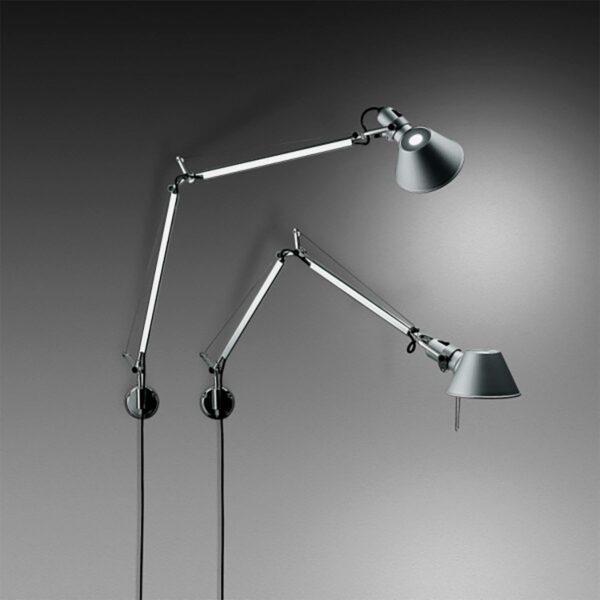 Lámpara flexo de pared Tolomeo Mini aluminio Artemide-359