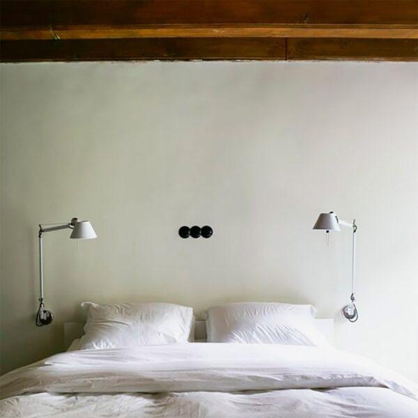 Lámpara flexo de pared Tolomeo Mini aluminio Artemide-360