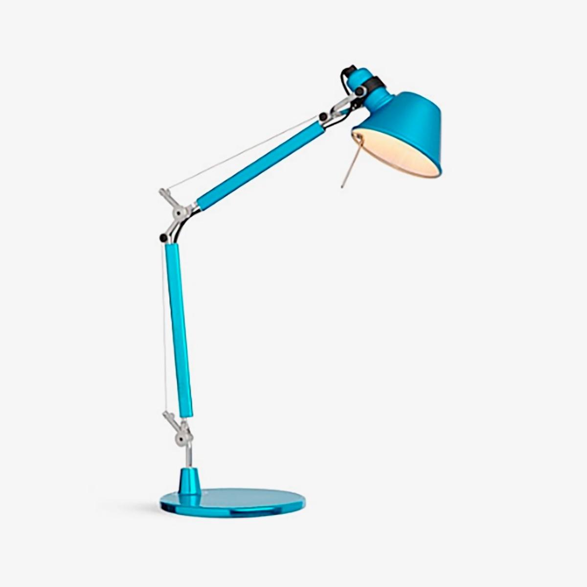 Lámpara sobremesa Tolomeo Micro azul Artemide-0