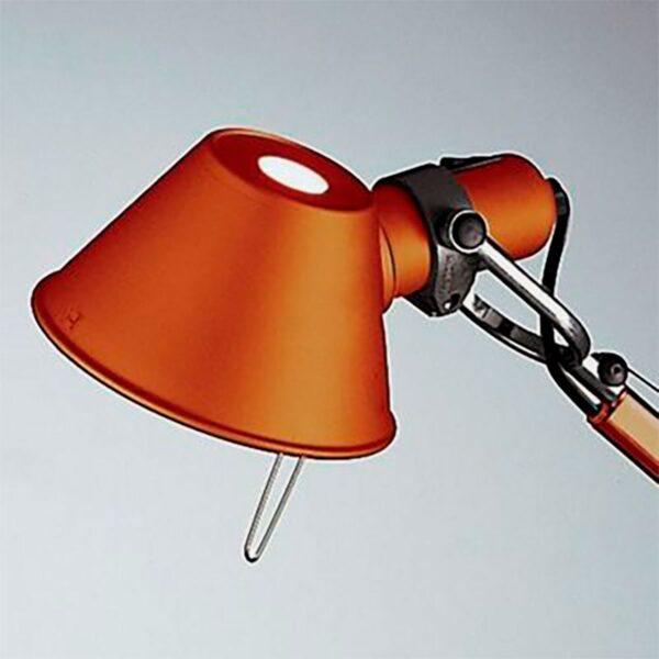 Lámpara sobremesa Tolomeo Micro naranja Artemide-372