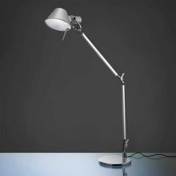 Lámpara sobremesa Tolomeo Mini más base mesa aluminio Artemide-381
