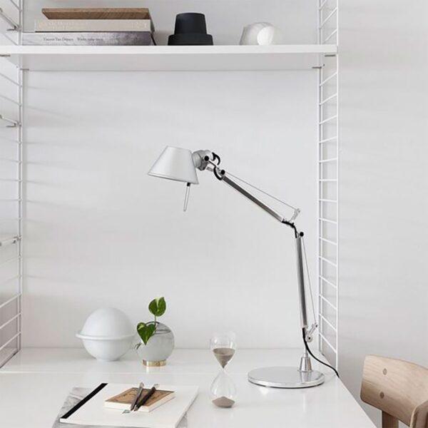 Lámpara sobremesa Tolomeo Mini más base mesa aluminio Artemide-380