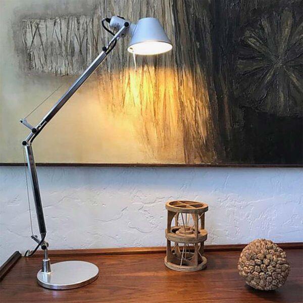 Lámpara sobremesa Tolomeo Mini más base mesa aluminio Artemide-382