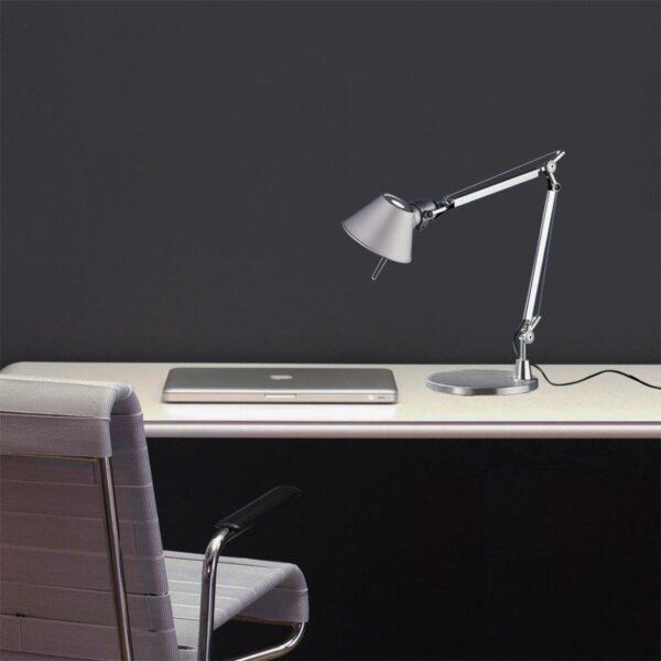 Lámpara sobremesa Tolomeo Tavolo más base mesa aluminio Artemide-385