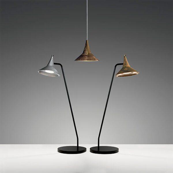 Lámpara sobremesa Unterlinden latón Artemide-340