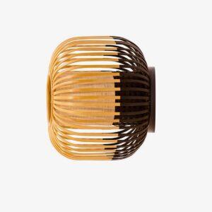 Aplique de pared Bamboo Light M natural y negro Forestier-0
