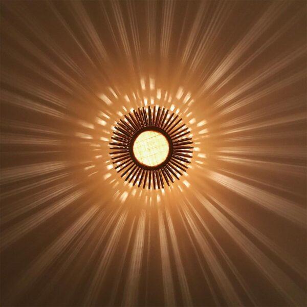 Aplique de pared Bamboo Light XS natural y rojo Forestier-918