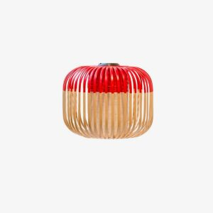 Aplique de pared Bamboo Light XS natural y rojo Forestier-0