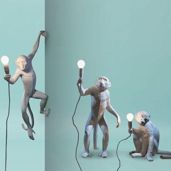 Aplique de pared Monkey blanco Seletti-830