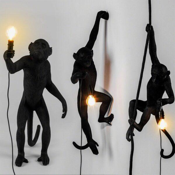 Aplique de pared Monkey negro Seletti-864