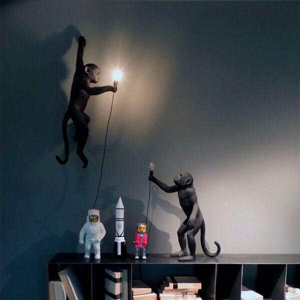 Aplique de pared Monkey negro Seletti-863