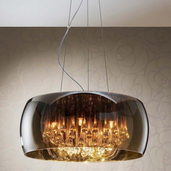 Lámpara colgante Argos D50 cromo Schuller-988