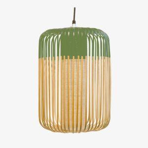 Lámpara colgante Bamboo Light L natural y verde Forestier-0