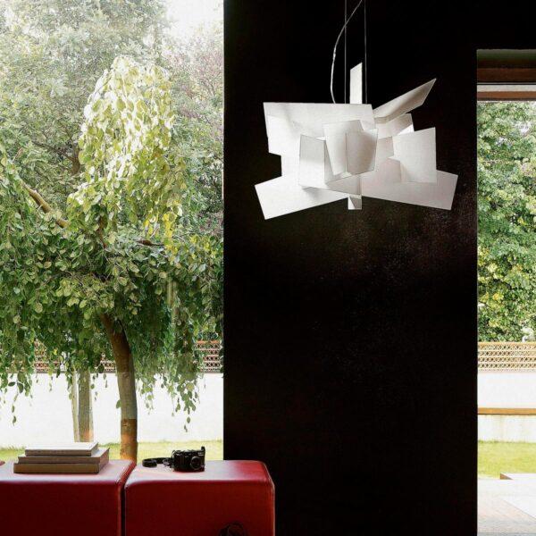 Lámpara colgante Big Bang sospensione blanco Foscarini-1593