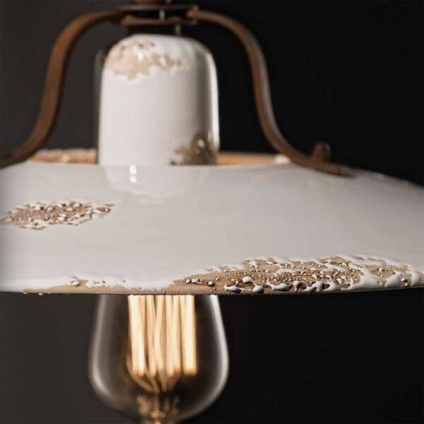 Lámpara colgante Country blanco Ferroluce-674