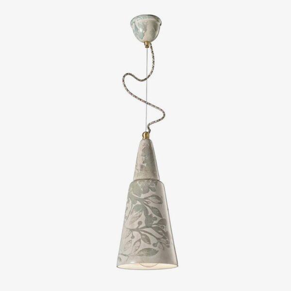 Lámpara colgante estampado cerámica Ferroluce-0