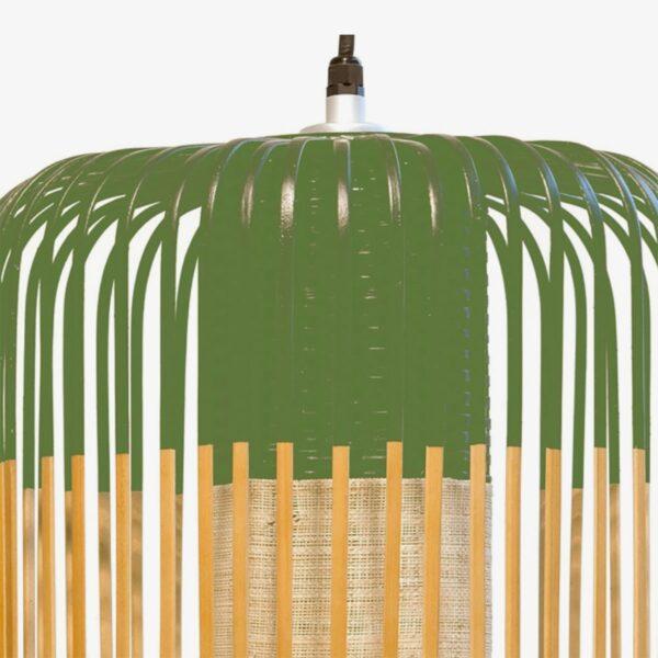 Lámpara colgante exterior Bamboo Light L natural y verde Forestier-642