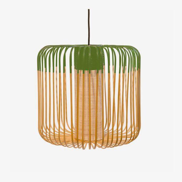 Lámpara colgante exterior Bamboo Light M natural y verde Forestier-0