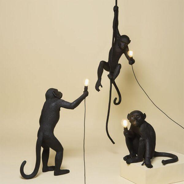 Lámpara colgante Monkey negro Seletti-865