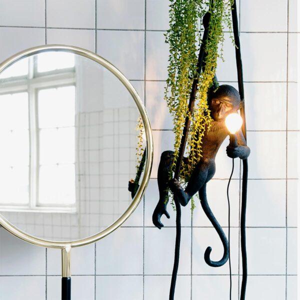 Lámpara colgante Monkey negro Seletti-866