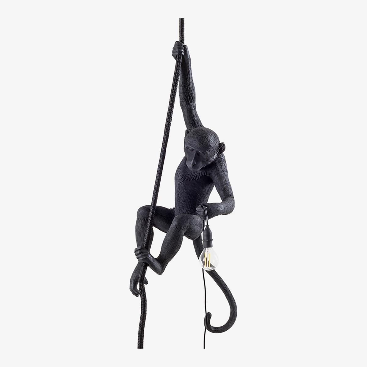 Lámpara colgante Monkey negro Seletti-0
