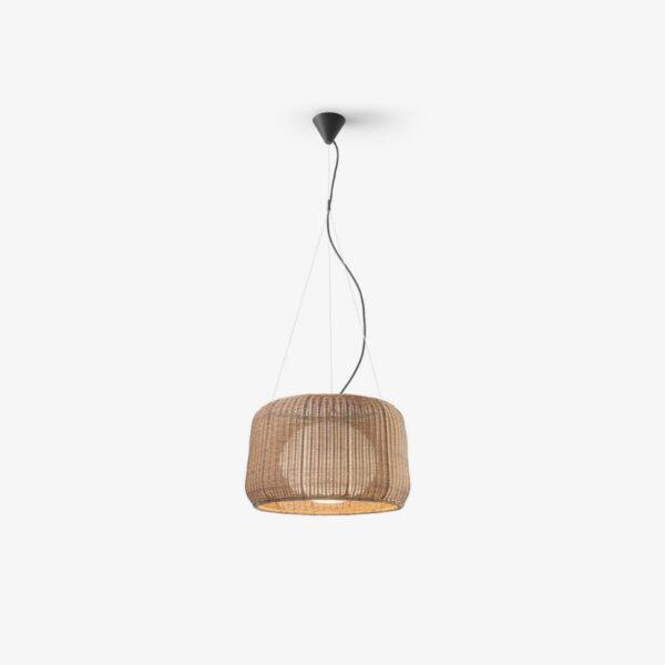 Lámpara colgante Fora S/50 marrón Bover-0