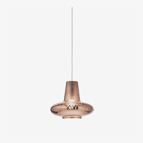 Lámpara colgante Giulietta metalizado oro rosa Zafferano-0