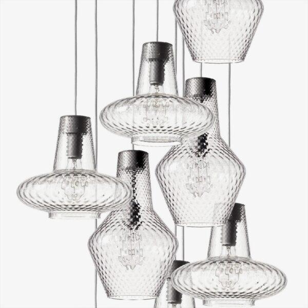 Lámpara colgante Giulietta transparente Zafferano-1758
