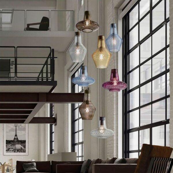Lámpara colgante Giulietta transparente Zafferano-921