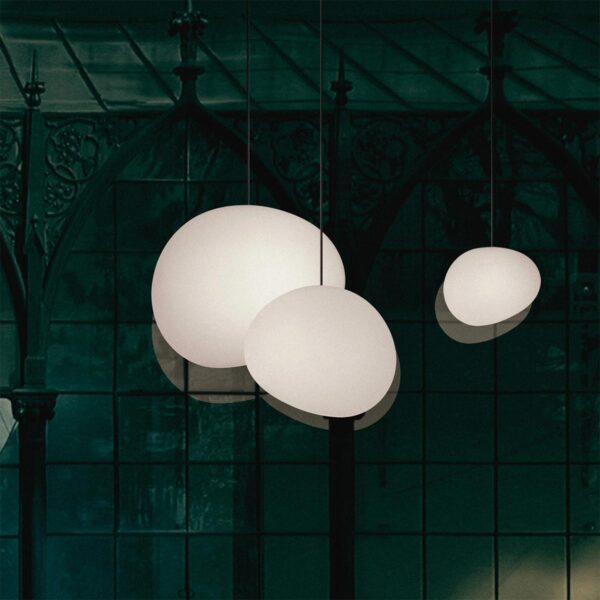 Lámpara colgante Gregg grande blanco Foscarini-595