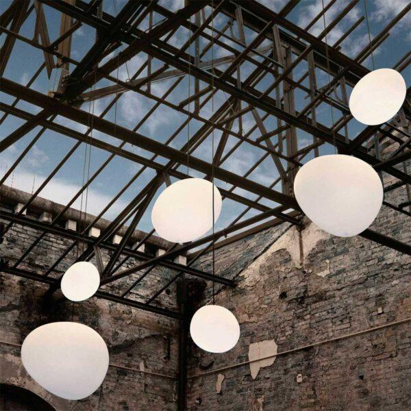 Lámpara colgante Gregg grande blanco Foscarini-594