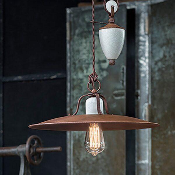 Lámpara colgante Grunge marron Ferroluce-671