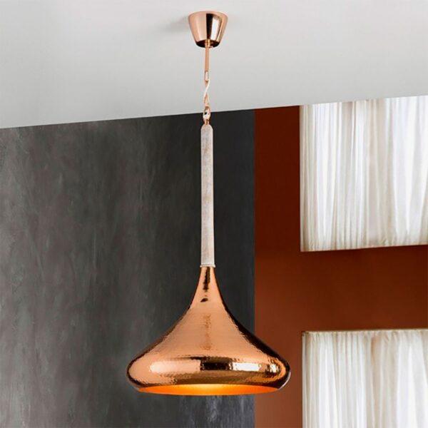 Lámpara colgante Ishara cobre Schuller-1017