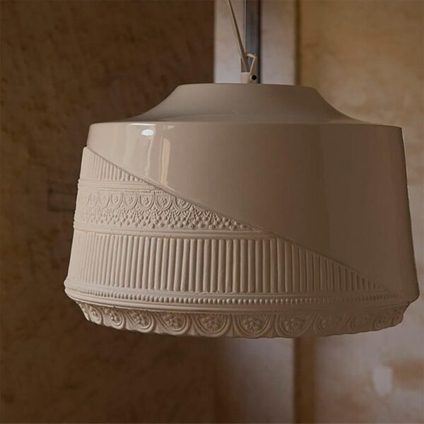 Lámpara colgante Mademoiselle blanco Karman-710