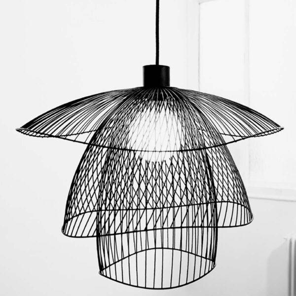 Lámpara colgante Papillon D100 negro Forestier-656