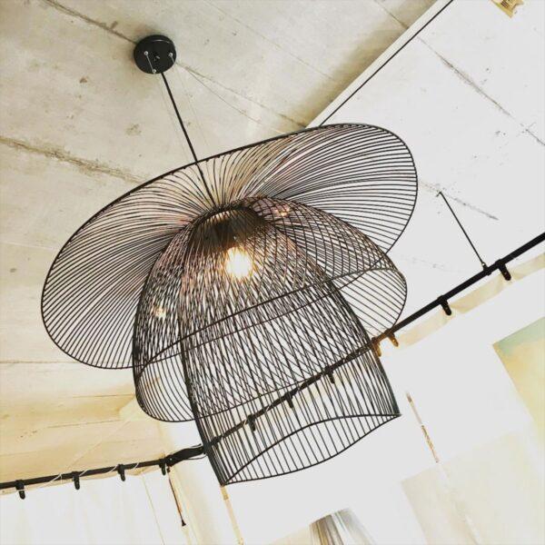 Lámpara colgante Papillon D100 negro Forestier-1618