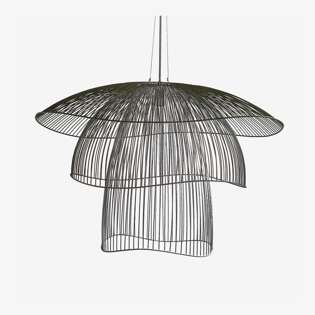 Lámpara colgante Papillon D100 negro Forestier-0