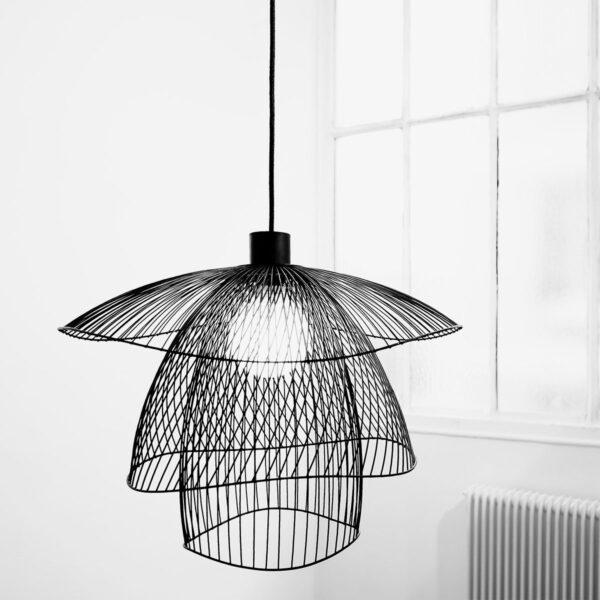 Lámpara colgante Papillon D56 negro Forestier -626