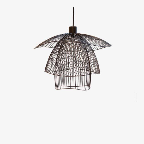 Lámpara colgante Papillon D56 negro Forestier -0
