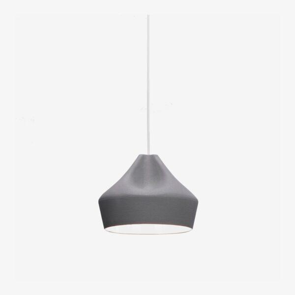Lámpara colgante Pleat Box D24 gris blanco Marset-0