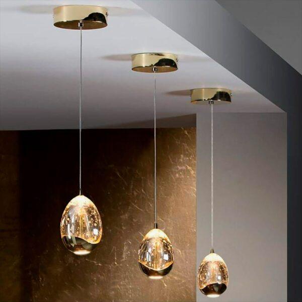 Lámpara colgante Rocio 1LED oro Schuller-1704