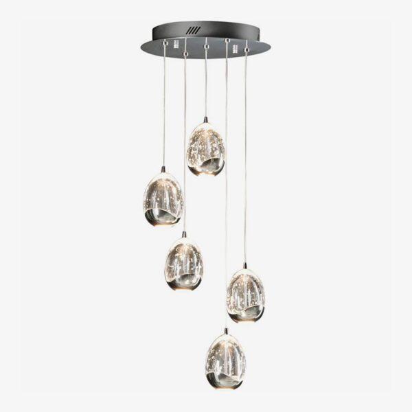 Lámpara colgante Rocio 5LED cromo Schuller-0