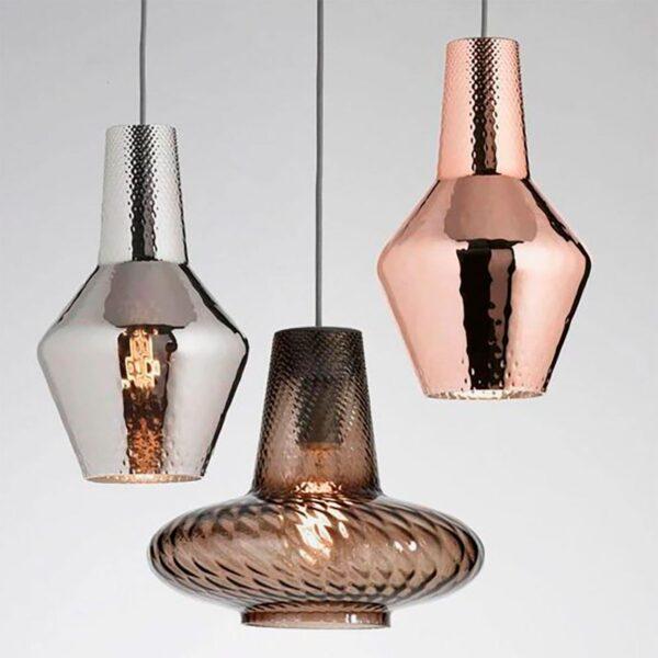 Lámpara colgante Romeo metalizado plata Zafferano-954