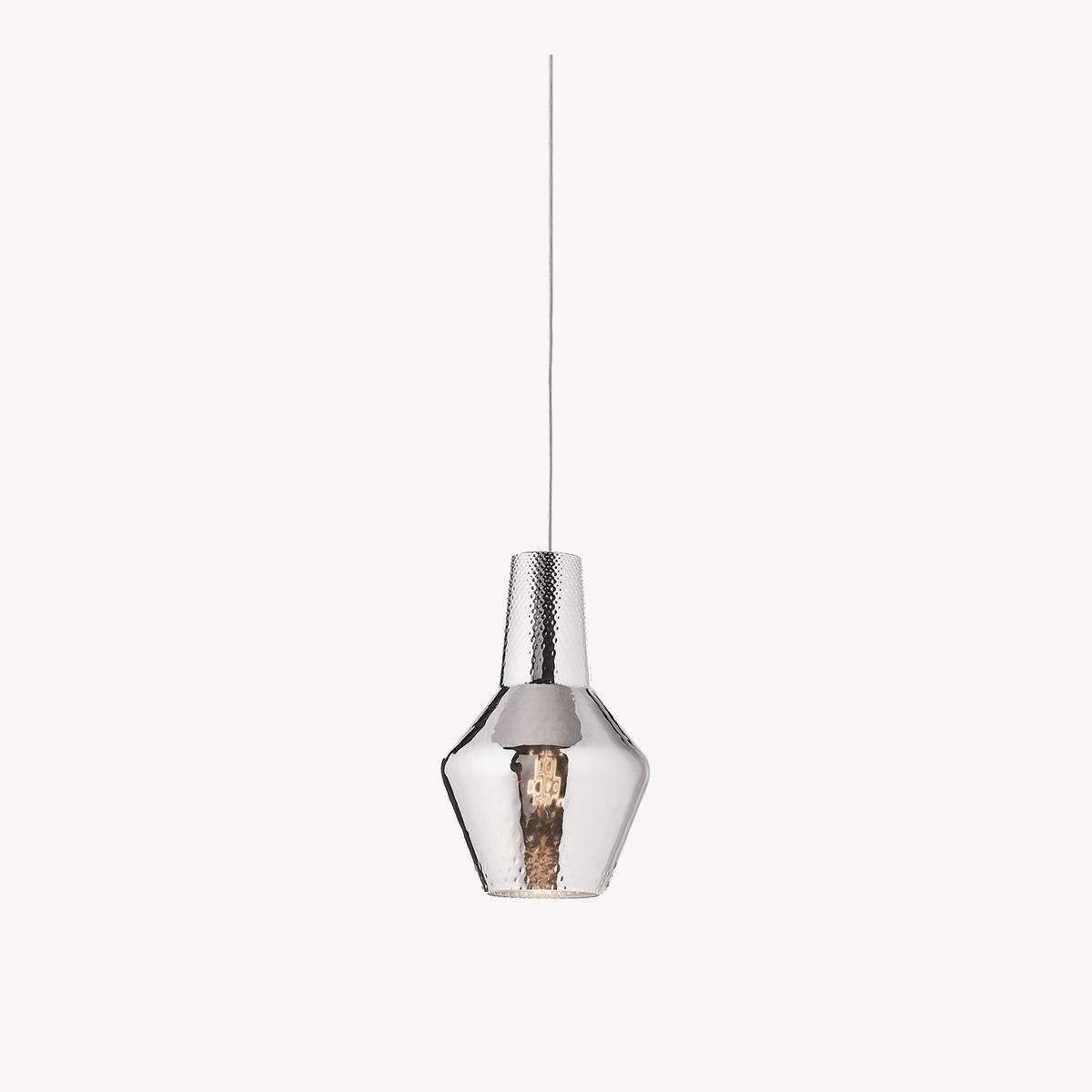 Lámpara colgante Romeo metalizado plata Zafferano-0