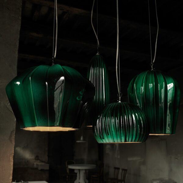 Lámpara colgante Sahara SE669KB verde Karman-1665