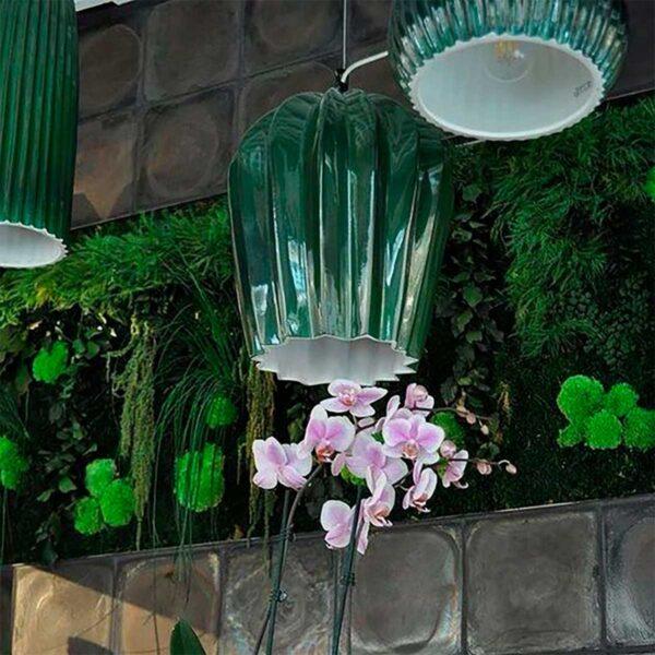 Lámpara colgante Sahara SE669KB verde Karman-1666