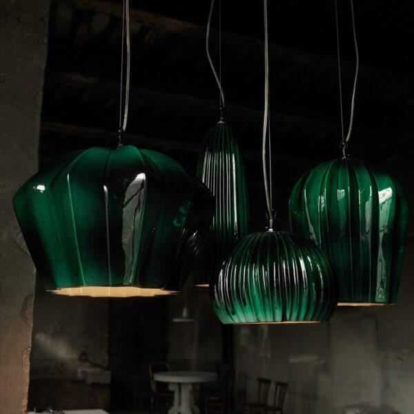 Lámpara colgante Sahara SE670KB verde Karman-1670