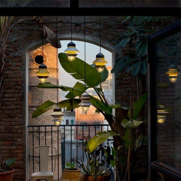 Lámpara colgante Santorini gris Marset-782